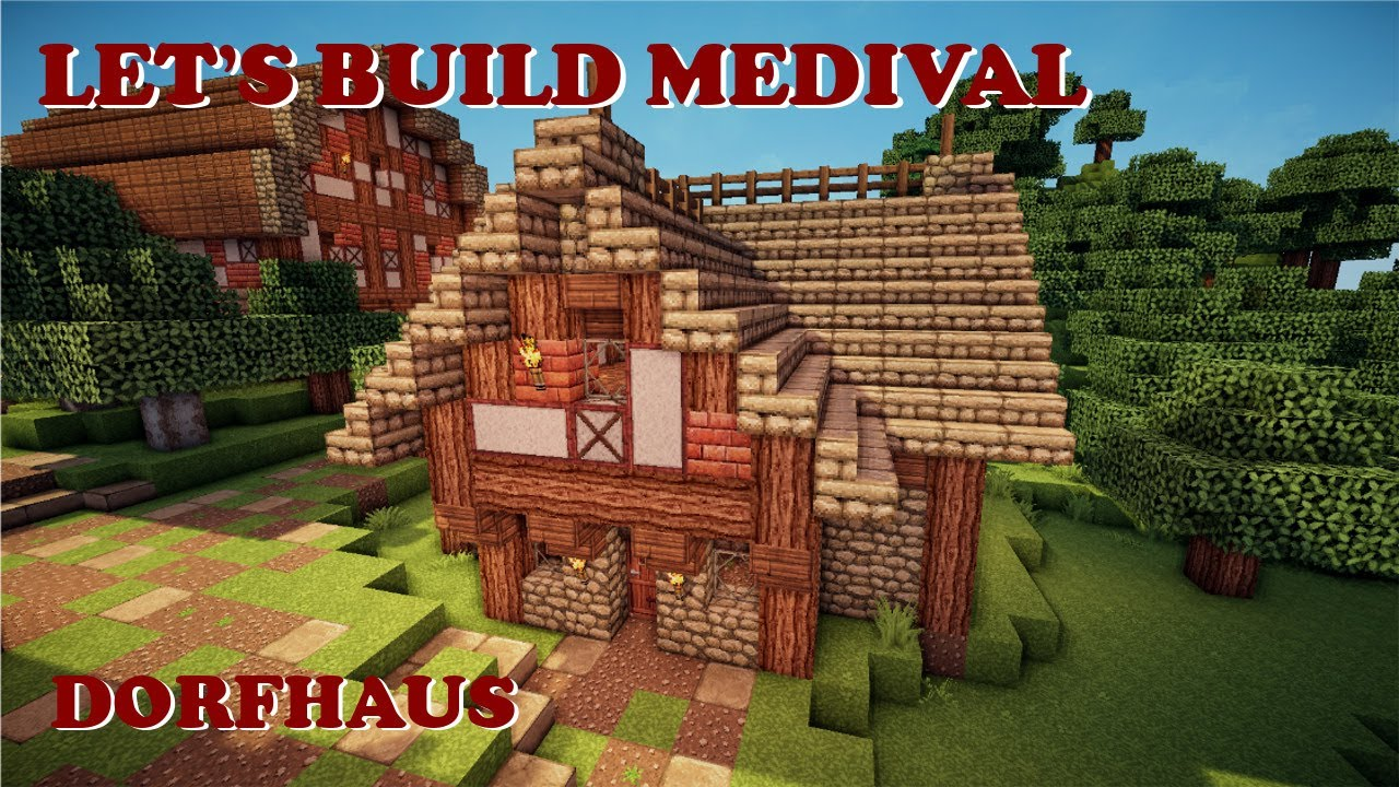 Minecraft Lets Build Mittelalterliches Dorfhaus YouTube - Minecraft hauser dorf