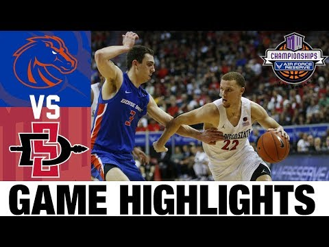 Boise State Vs #5 San Diego State Highlights 2020 College Basketball