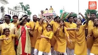 Girls Dance in Ganesh Immersion in Old City | Ganesh Nimajjanam Hyderabad