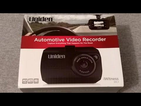 Uniden IWitness DC1 Dashcam Unboxing