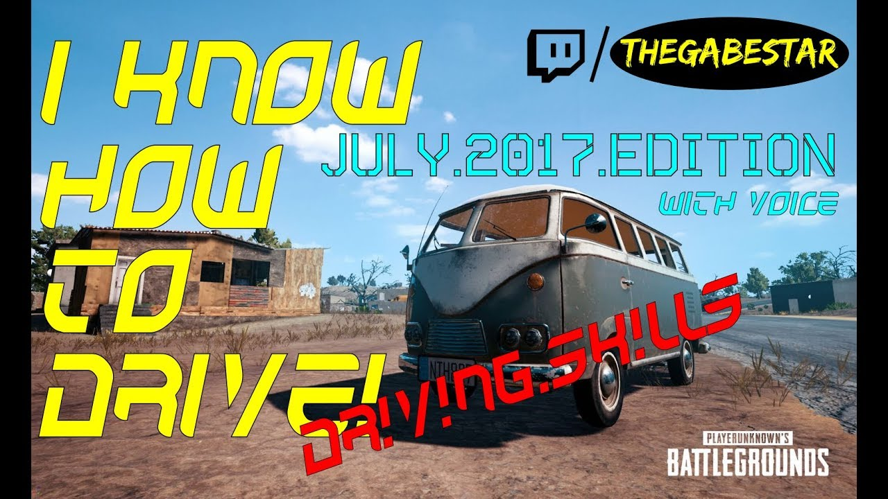 PUBG | PC | Driving Skills July 2017 w/ Voice (German)