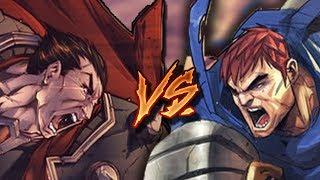 Dentro de la mente de Garen VS Darius | Pelea anime - DeivisForAll
