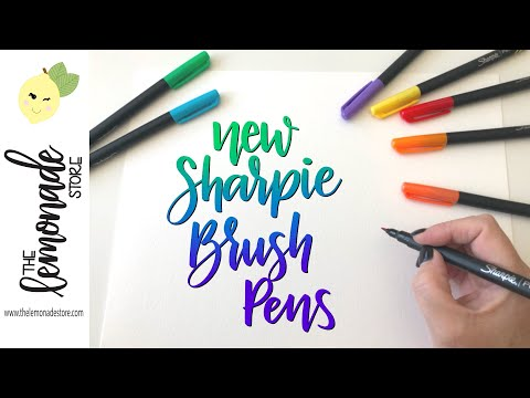 NEW Sharpie Brush Pen Demo - Blending Markers, Brush Tip Pens, Sharpies
