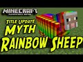 Minecraft (PS3, PS4, Xbox, Wii U) - Rainbow Sheep - Title Update Myths