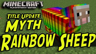 Minecraft (PS3, PS4, Xbox) - Rainbow Sheep - Title Update Myths