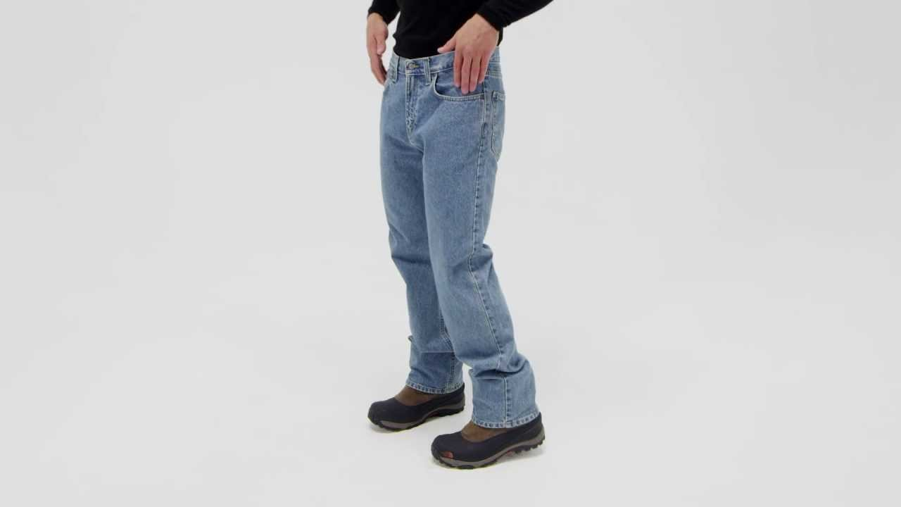4e6557a1bef Carhartt Men's Relaxed Fit Straight Leg Jeans - YouTube