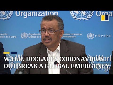 World Health Organisation declares global health emergency due to coronavirus outbreak