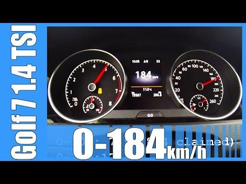 VW Golf 7 1.4 TSI 0-184 km/h DSG NICE! Acceleration Test