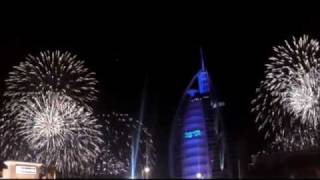 new year 2012 - fire works at Burj al arab.wmv