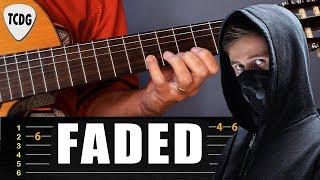 Como tocar FADED en guitarra acústica (Alan Walker) | Tablatura y Backing Track TCDG