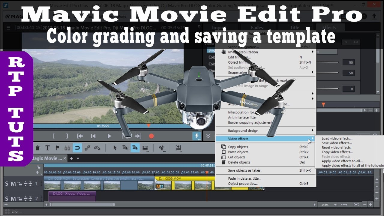 Magix movie edit pro dji mavic pro color grading video for Magix movie edit pro templates