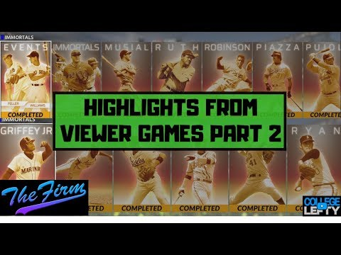 VIEWER GAME HIGHLIGHTS! 3 INNING LEGEND GAMES PART 2! MLB THE SHOW 18