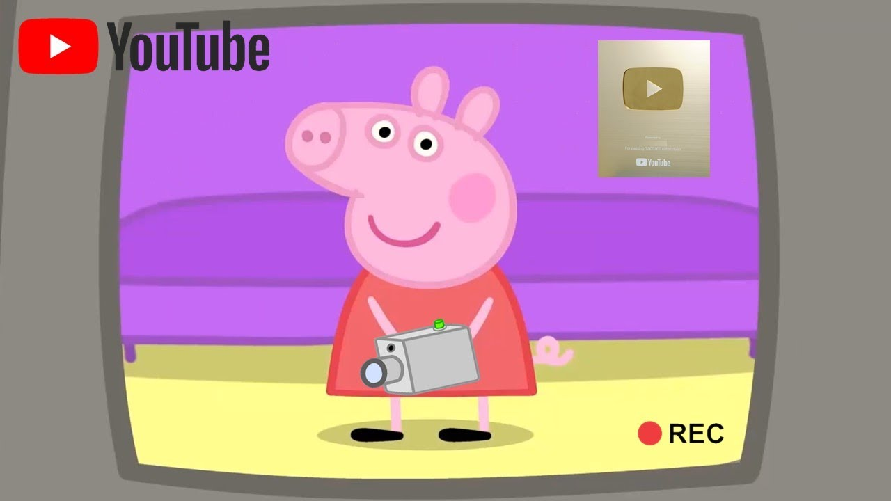 Peppa Pig Does YouTube