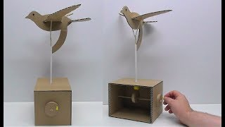 Механическая птица из картона своими руками