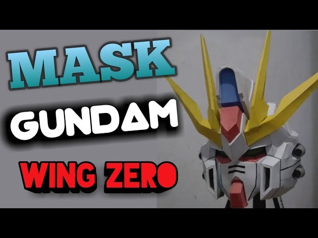 how to make papercraft gundam mask (wing zero)