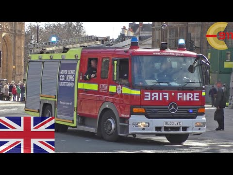 [LONDON] H222 on a run at Big Ben with siren and lights- London Fire Brigade