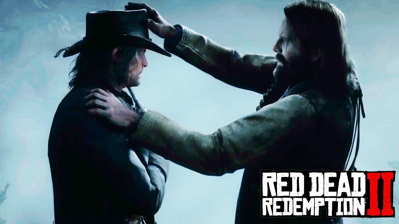 Arthur Gives John Marston His Hat Red Dead Redemption 2
