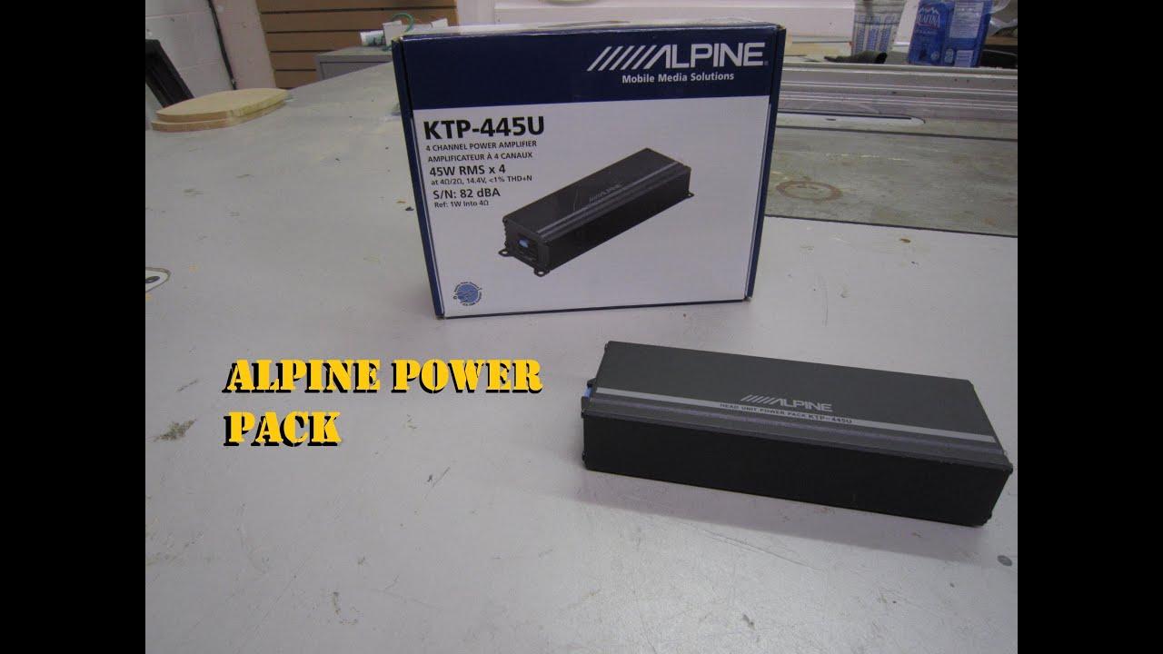 Alpine Ktp 445u Power Pack Wiring Diagram Fender 5 Way Switch Mini Amplifier Youtube