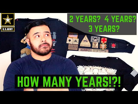 HOW MANY YEARS DO YOU HAVE TO SERVE IN THE ARMY?