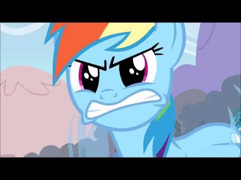 MLP TMNT - Twilight, Rarity And Pinkie Pie Insult Rainbow Dash (TMNT 2012 Scenes)