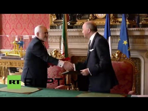 France: Iranian FM Zarif meets with Fabius in Paris