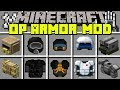 Minecraft FUTURISTIC ARMOR MOD! | CRAFT NEW UNBREAKABLE ARMOR WITH POWERS! | Modded Mini-Game