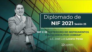 Cadefi | Diplomado de NIF 2021 Sesión 25 | NIF C-16 Deterioro de instrumentos financieros por cobrar