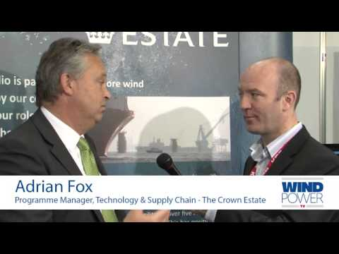 Adrian Fox, from The Crown Estate, interviewed at Offshore Wind 2013