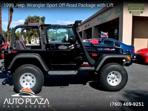 1999 jeep wrangler sport off road package with lift auto. Black Bedroom Furniture Sets. Home Design Ideas