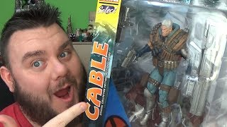 Marvel Select Cable Action Figure X-Men Diamond Select Toys Unboxing Review