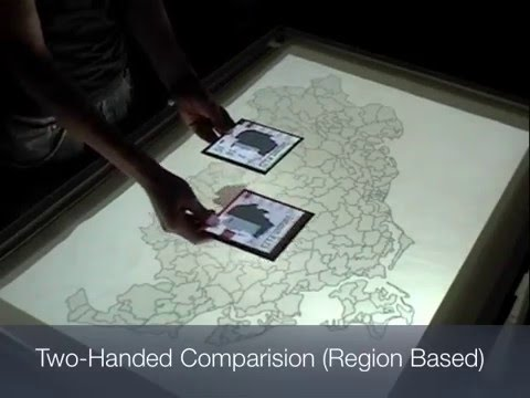 Tangible views for information visualization
