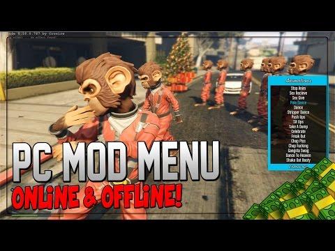 "GTA 5 PC Mods - ""Mod Menu"" - ""PC Mod Menu"" Online Cash Dropper (GTA 5 PC Mod Gameplay)"