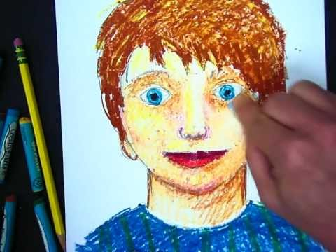 using-oil-pastels-to-create-a-portrait