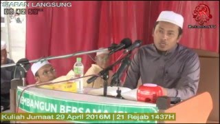 Kuliah Jumaat Medan Ilmu- 29 April 2016