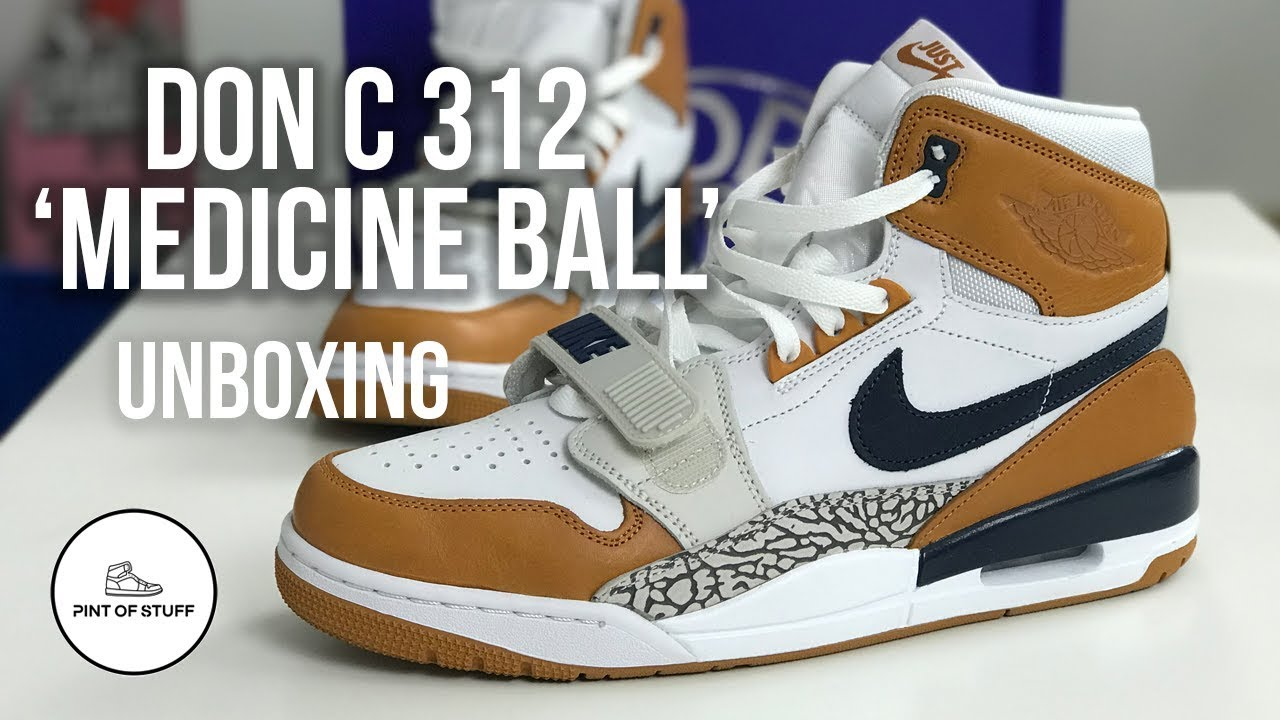 "60099bf9d7b3 Don C Air Jordan Legacy 312 ""Medicine Ball"" Unboxing with Mr B - YouTube"