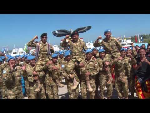 PANGLIMA TNI MARSEKAL TNI HADI TJAHJANTO KUNJUNGI KONGA UNIFIL DI MARKAS INDOBATT, LEBANON SELATAN