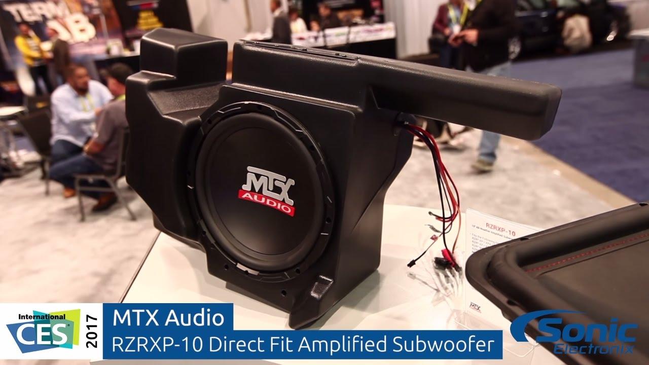 Mtx audio polaris rzr audio upgrade solutions direct fit speakers subwoofer ces 2017