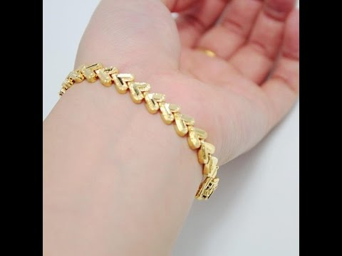4aa4720ac9db7 latest designer gold bracelet designs for girls/fashion9tv