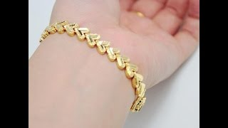 latest designer gold bracelet designs for girls/fashion9tv(, 2016-12-22T17:08:11.000Z)