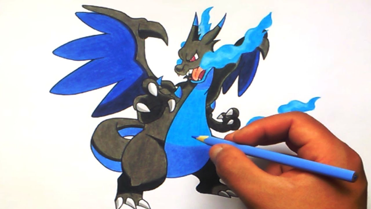 Cómo Dibujar A Mega Charizard X How To Draw Mega Charizard X Pókemon