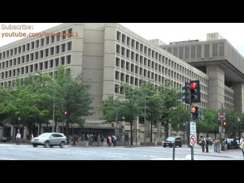 FBI Headquarters Across Busy Intersection 1, Washington DC - youtube.com/tanvideo11