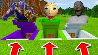 Minecraft PE : DO NOT CHOOSE THE WRONG SECRET BASE! (Thanos, Baldi's Basics & Granny)