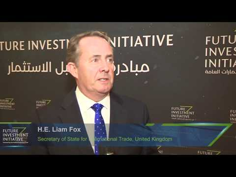 H E Liam Fox at Future Investment Initiative 2017