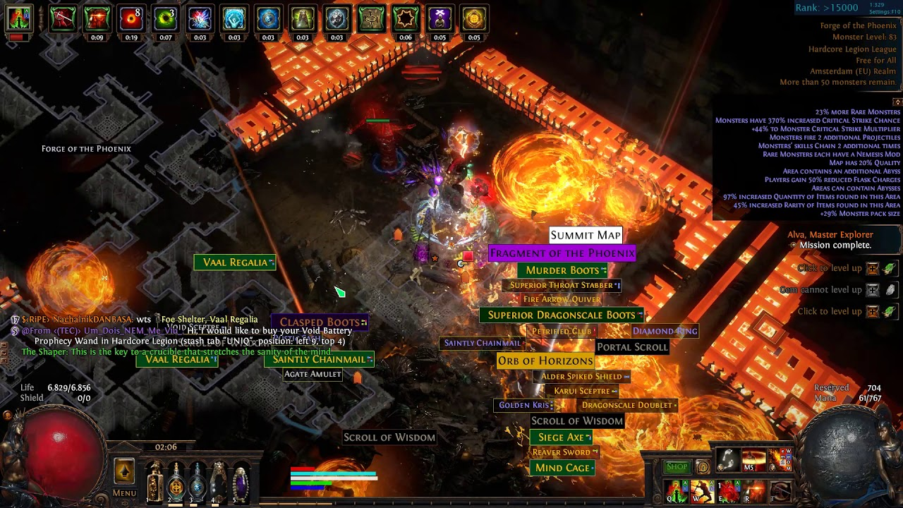 path of exile 3 7 Nebuloch Juggernaut, tectonic slam, HC legion