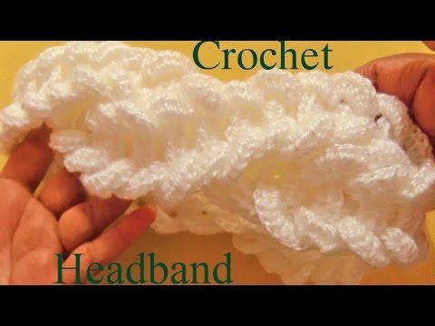 Como tejer una diadema a Crochet en punto de argollas gruesas – Learn Crochet