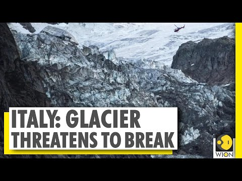 Italian glacier threatening to collapse due to high temperat
