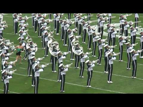 MSU Marching Band Entrance - MSU vs. UM 2011
