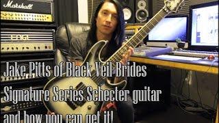 Jake Pitts Signature Model Schecter C1 Black Veil Brides