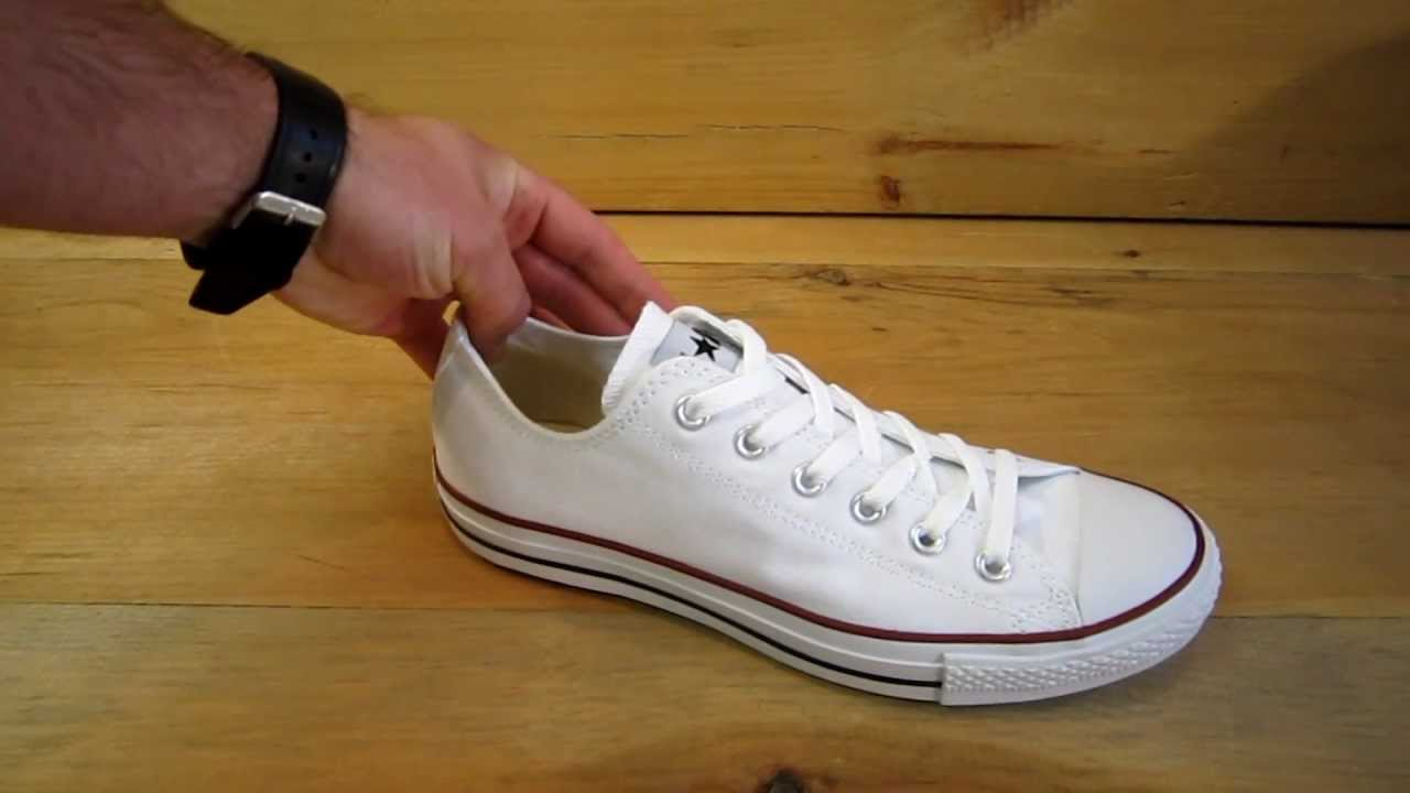 Converse All Stars Chuck Taylor Ox Optical White - YouTube 0ab2ec121