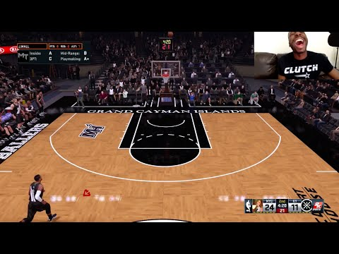 Yao Ming Makes a Full Court Three Pointer!! UNBELIEVABLE! LMAO! Funny NBA2k My Team Gameplay